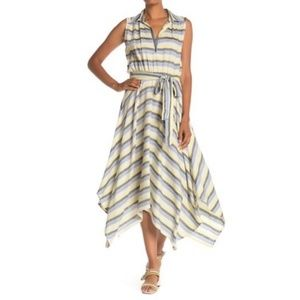 Max Studio handkerchief striped tank dress small